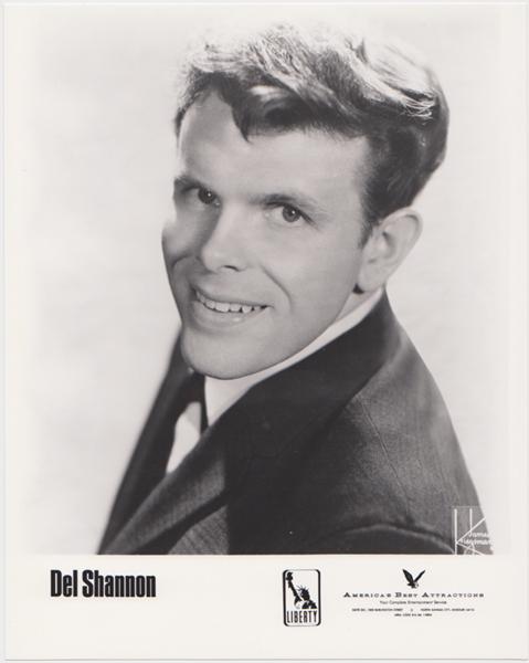 Del Shannon, Drifters, Dee Clark 1961 Concert Handbill 1963 with Publicity Photo