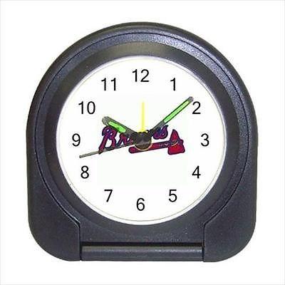 ATlanta Braves Compact Travel Alarm Clock (Battery Included) - MLB Baseball