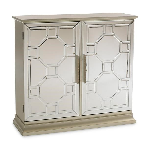 Caracole Classic Contemporary Show Off! Mirrored Door Chest Cabinet