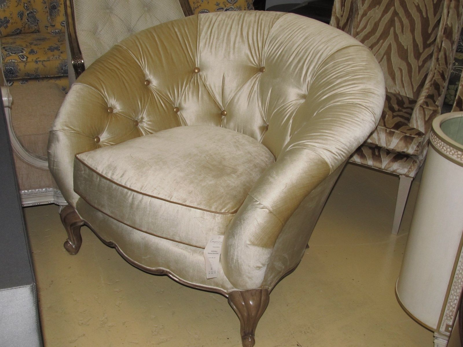 Schnadig Compositions Tatiana Button Tufted Upholstered Arm Chair A-450-004-A