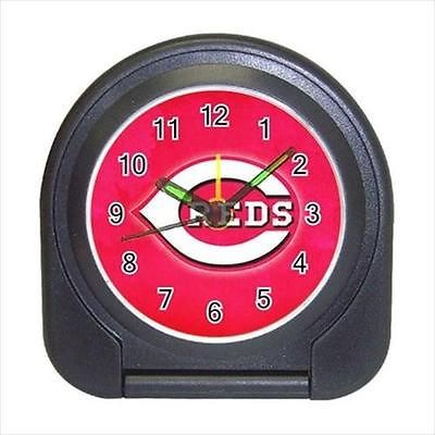 Cincinnati Reds Compact Travel Alarm Clock (Battery Included) - MLB Baseball