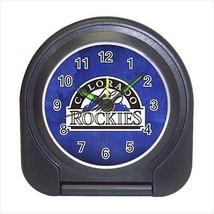 Colorado Rockies Compact Travel Alarm Clock (Battery Included) - MLB Bas... - $9.94