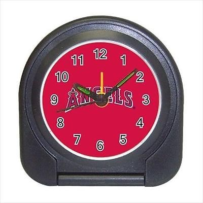 LA Angels of Anaheim Compact Travel Alarm Clock (Battery Included) - Baseball