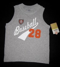 BOYS 2T - Carter's - Baseball #28 Gray Knit SLEEVELESS SHIRT - $13.00