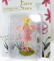 Dezine Fairy Collection Fairy story whispering fairy #5551 pink wings NEW - $12.86