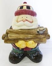 Sakura Christmas cookie jar woodland santa by debbie mumm 1998 - $46.52