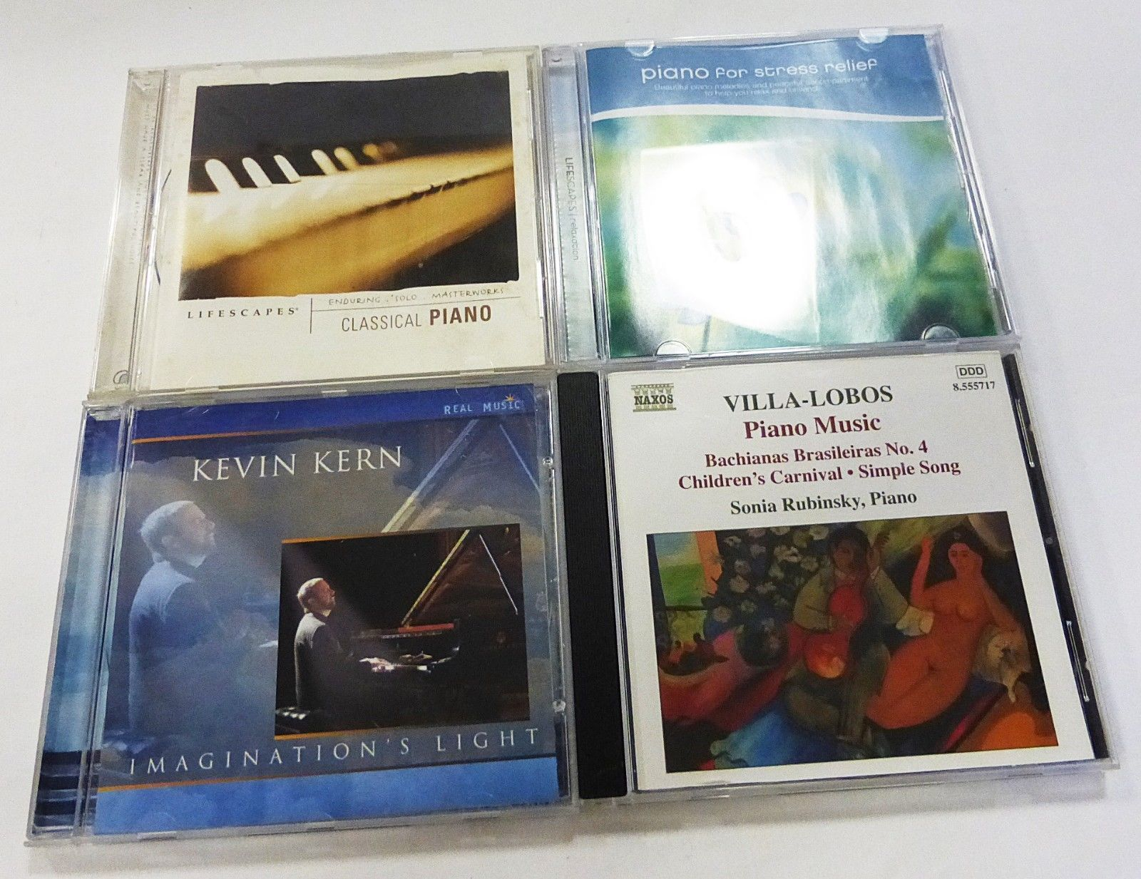 Lot of piano classical music set of 4 CD used Kevin Kern Imaginatio's Light