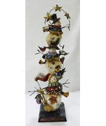 Roman Inc. three snowmen tower wood Christmas table/shelf decoration NEW - $34.64