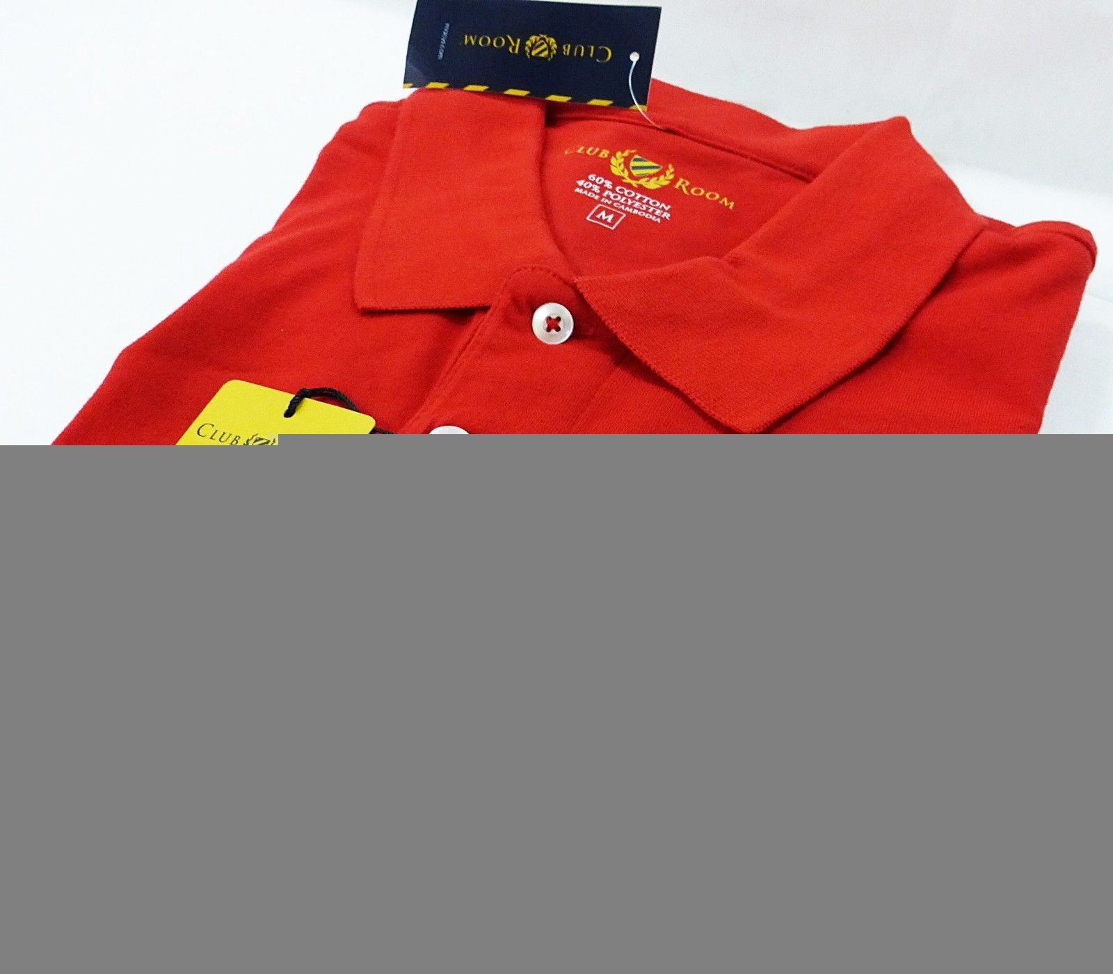 club room men pocket polo performance red size S-L NWT MSRP $39