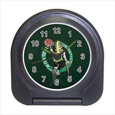 Boston Celtics Compact Travel Alarm Clock (Battery Included) - NBA Basketball
