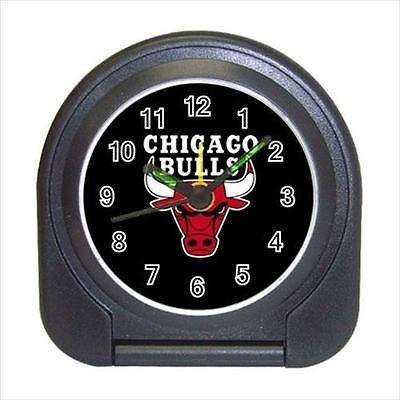 Chicago Bulls Compact Travel Alarm Clock (Battery Included) - NBA Basketball