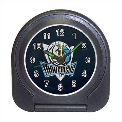 Dallas Mavericks Compact Travel Alarm Clock (Battery Included) - MLB Baseball