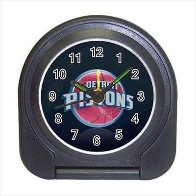 Detroit Pistons Compact Travel Alarm Clock (Battery Included) - MLB Baseball