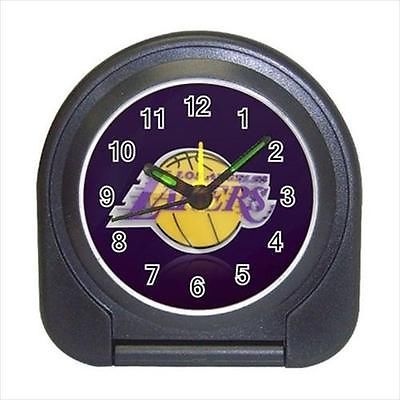 LA Lakers Compact Travel Alarm Clock (Battery Included) - NBA Basketball