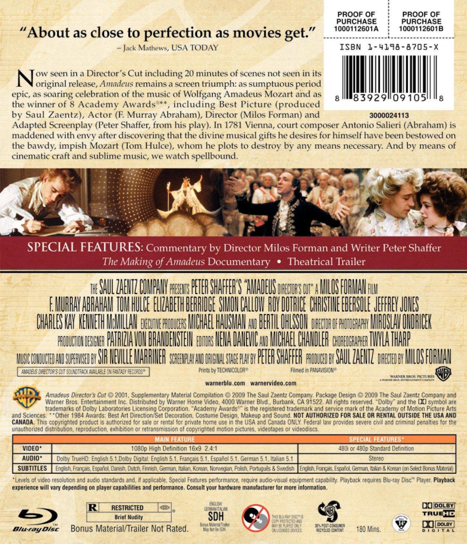 Amadeus: Director's Cut [Blu-ray]