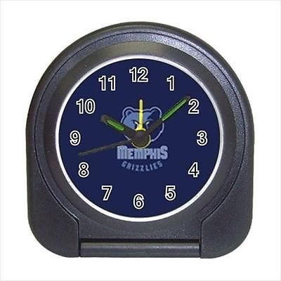 Memphis Grizzlies Compact Travel Alarm Clock (Battery Included) - NBA Basketball