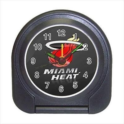 Miami Heat Compact Travel Alarm Clock (Battery Included) - NBA Basketball