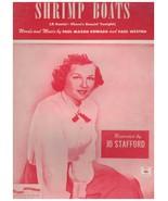 Sheet Music - Shrimp Boats~Jo Stafford ~ 1951 ~ Paul Mason Howard ~Paul ... - $13.81