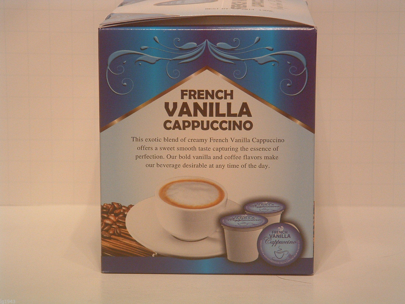 French Vanilla Flavored Cappuccino 12 Single Serve  K-Cup Brewer Free Shipping