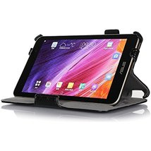 Amzer Shell Portfolio Case for Asus MeMO Pad 7 ME176C - Black Leather Te... - $21.73
