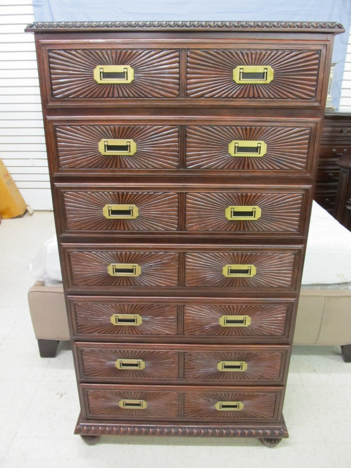 Henredon Tommy Bahama Carved Mahogany Chest of Drawers Lingerie Chest 0810