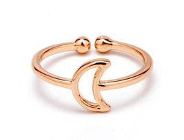 1 piece of Rose Gold Plated Moon Ring (JZ034B)XH - $2.50