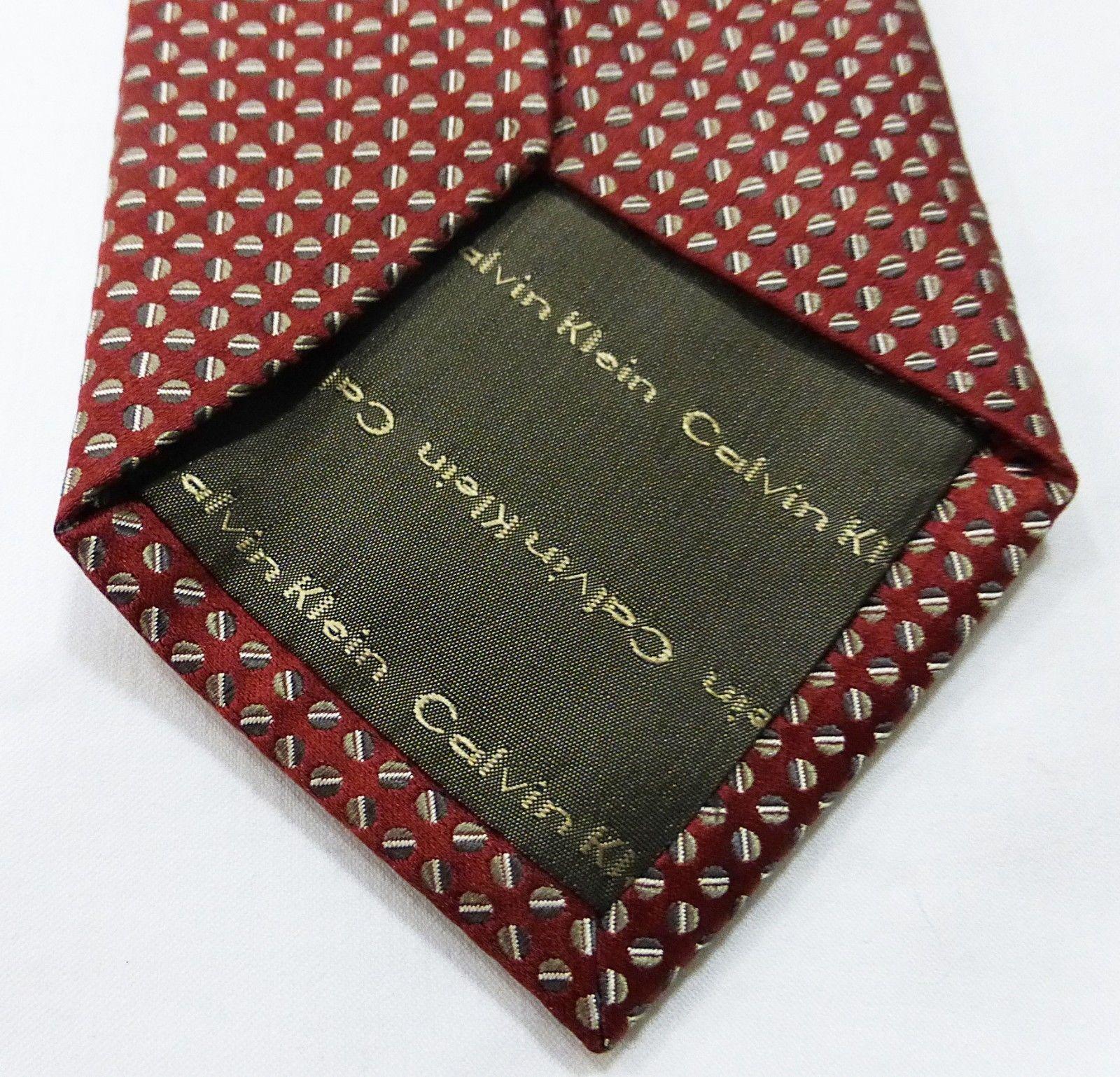 Calvin Klein tie men 100% silk