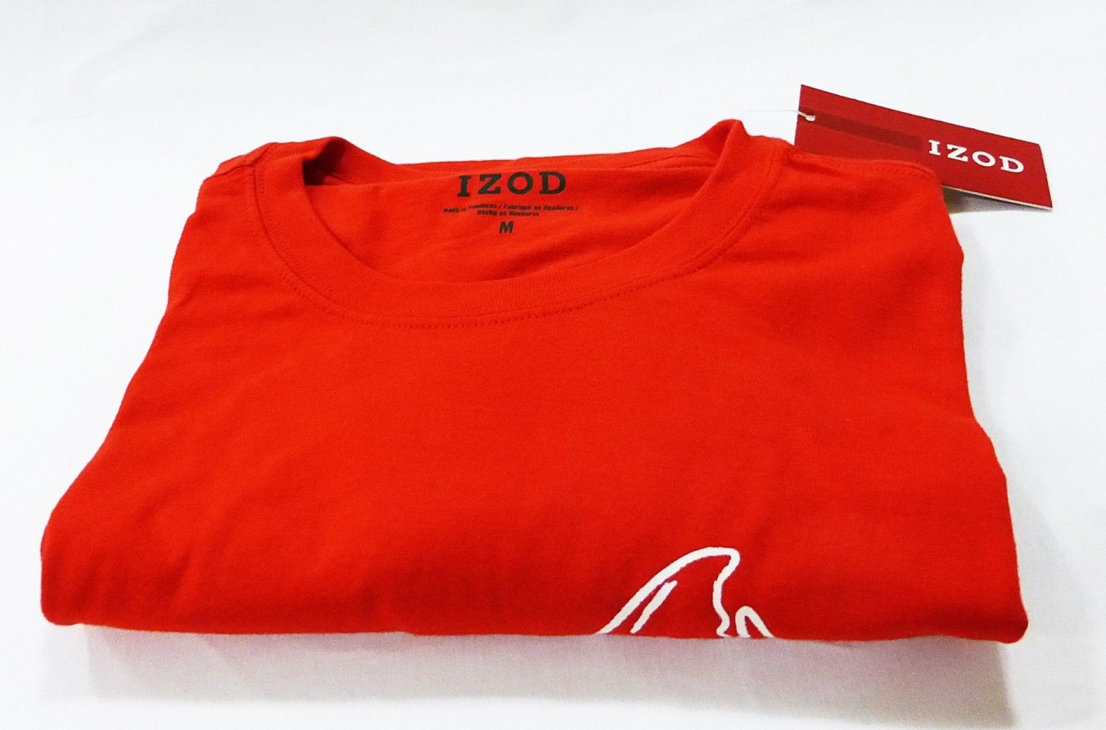 Izod men M/MEDIUM red printed T-shirt NWT