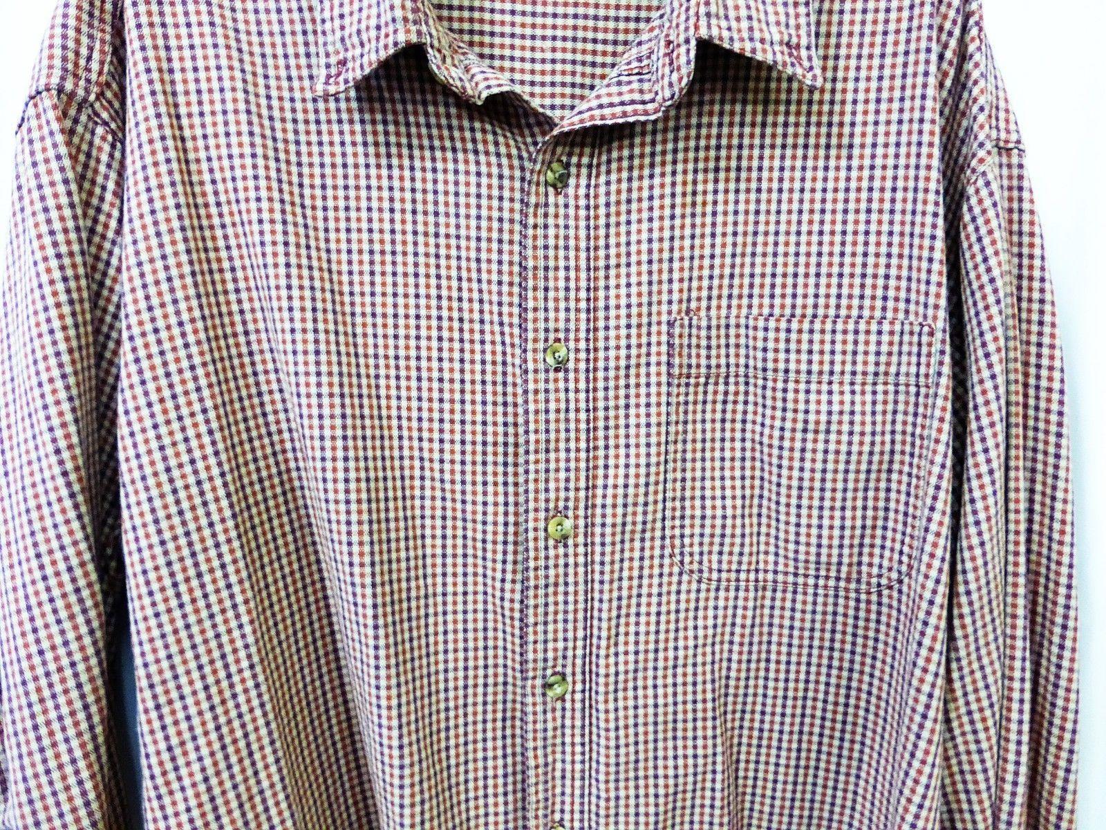 L.L. Bean long sleeve shirt men button down XL/XLarge plaid 100% cotton