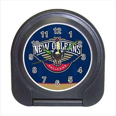 New Orleans Pelicans Compact Travel Alarm Clock (Battery Included) - Basketball