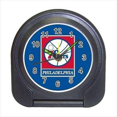Philadelphia 76ers Compact Travel Alarm Clock (Battery Included) - Basketball