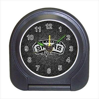 San Antonio Spurs Compact Travel Alarm Clock (Battery Included) - NBA Basketball