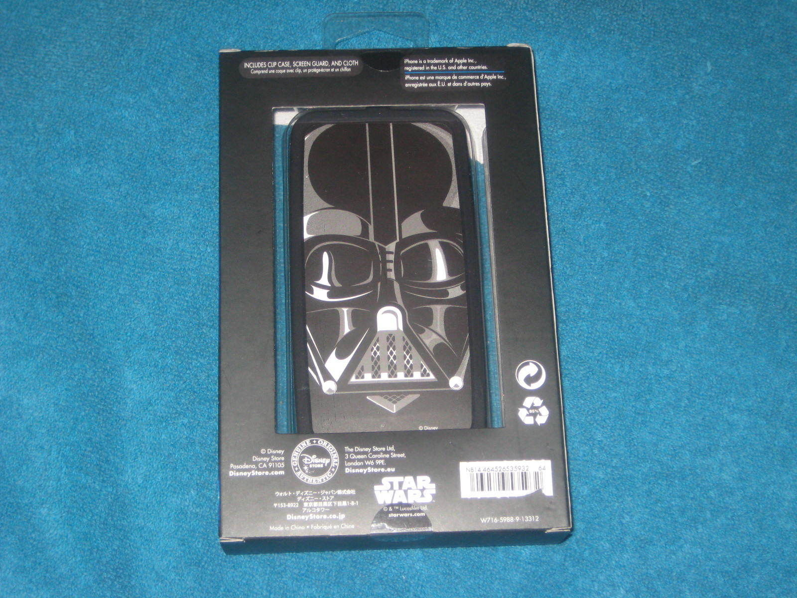Disney Store Star Wars Darth Vader iPhone 5/5S Clip Case Brand New Sealed