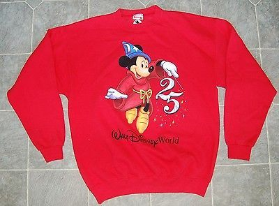 Mickey Mouse Sweatshirt by Disney, Adult Extra Large, XL, Red