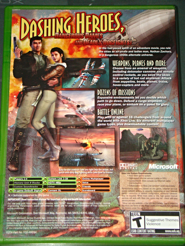 XBOX - CRIMSON SKIES HIGH ROAD TO REVENGE (Complete with Instructions)