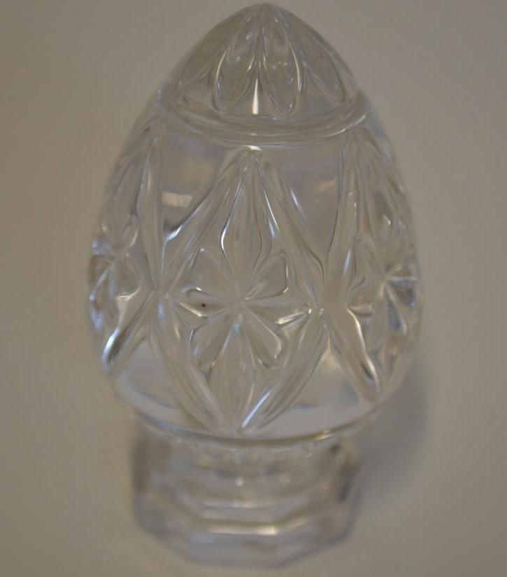 Bleikristall 24% Lead Crystal Glass Egg ~ Made In Germany w Original Label