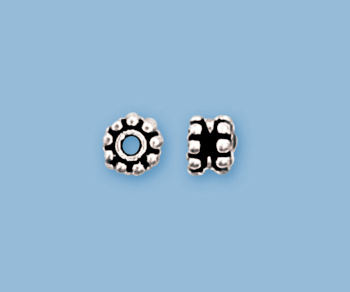 (12) New 925 Sterling Sterling Silver Bali Style Spacer 5mm