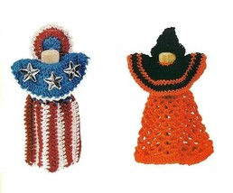 Y549 Crochet PATTERN ONLY All American & Witch Clothespin Dolls Patterns - $8.50