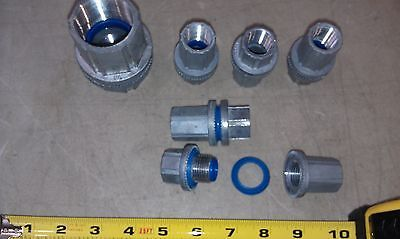 "5EE64 SET OF (4) 1/2"" NPT CONDUIT CONNECTORS (DIV2 EFG TYPE 4) & (1) 1-1/4"" NPT"