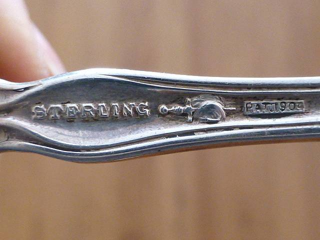 """1904 ART NOUVEAU Daisy Blackinton Towle Sterling Silver Cheese Scoop Spoon 6.75"""""""