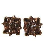 Gold Toned Clip Earrings 24k Trimmed - $12.50