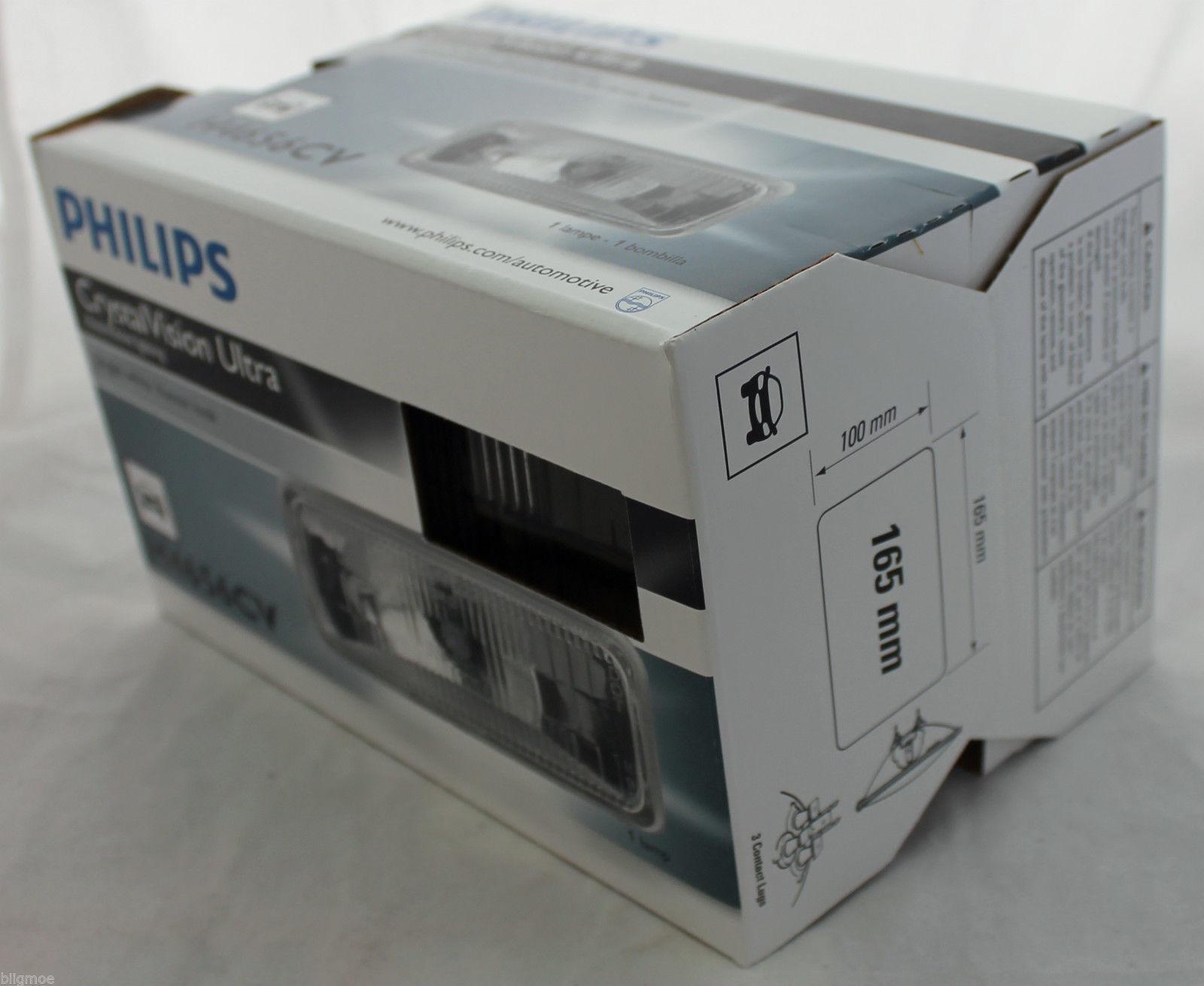 NEW PHILIPS CRYSTAL VISION ULTRA HALOGEN HEADLIGHT H4656CV 12V BRIGHT XENON LAMP