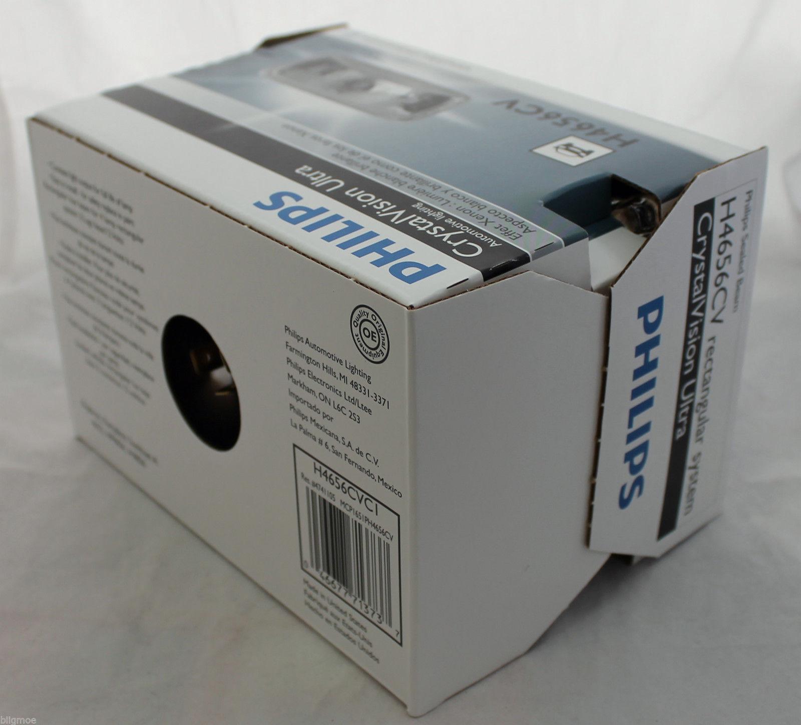 New philips crystal vision ultra halogen headlight h4656cv 12v bright