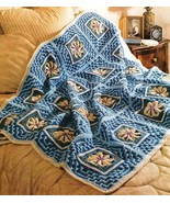 Y560 Crochet PATTERN ONLY Water Lilies Coverlet... - $11.45