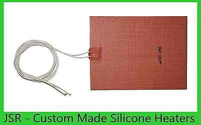 """6"""" X 8"""" 150 X 200mm 24V 190W w/ 3M Factory Direct Sale iThermal Silicone Heater"""