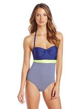 NWT $108 Splendid Malibu Stripe One Piece Swimsuit S M L - $29.98