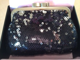 Victorias Secret Angel Forever Black Sequin Coing Purse ~ Limited Edition ~ Nwt~ - $15.90