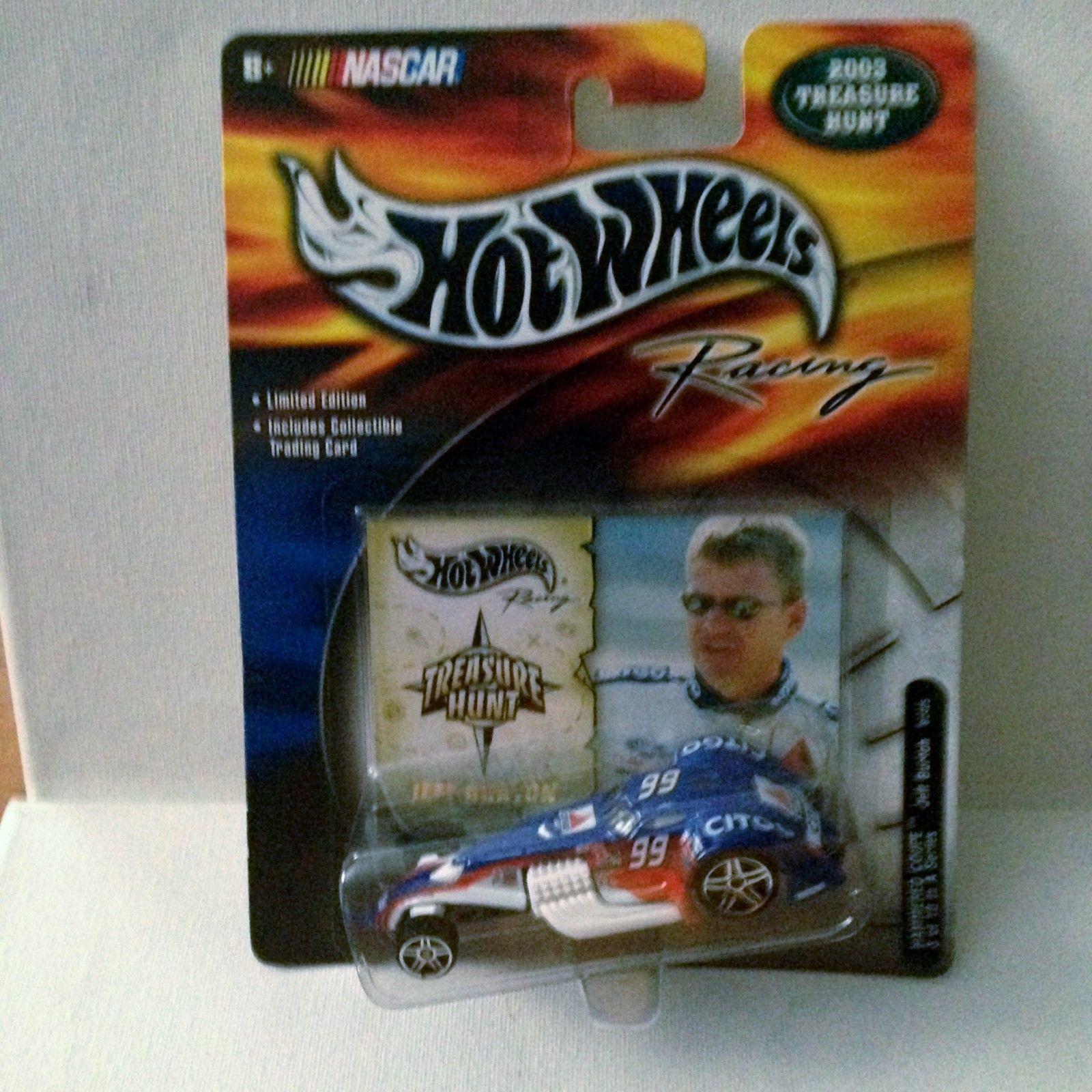 Hot Wheels 2003 Racing Treasure Hunt TH NASCAR Hammered Coupe #99 Jeff Burton