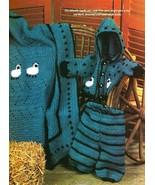 Y583 Crochet PATTERN ONLY Lamb Baby Layette Hoodie Jacket Pants Afghan P... - $8.50