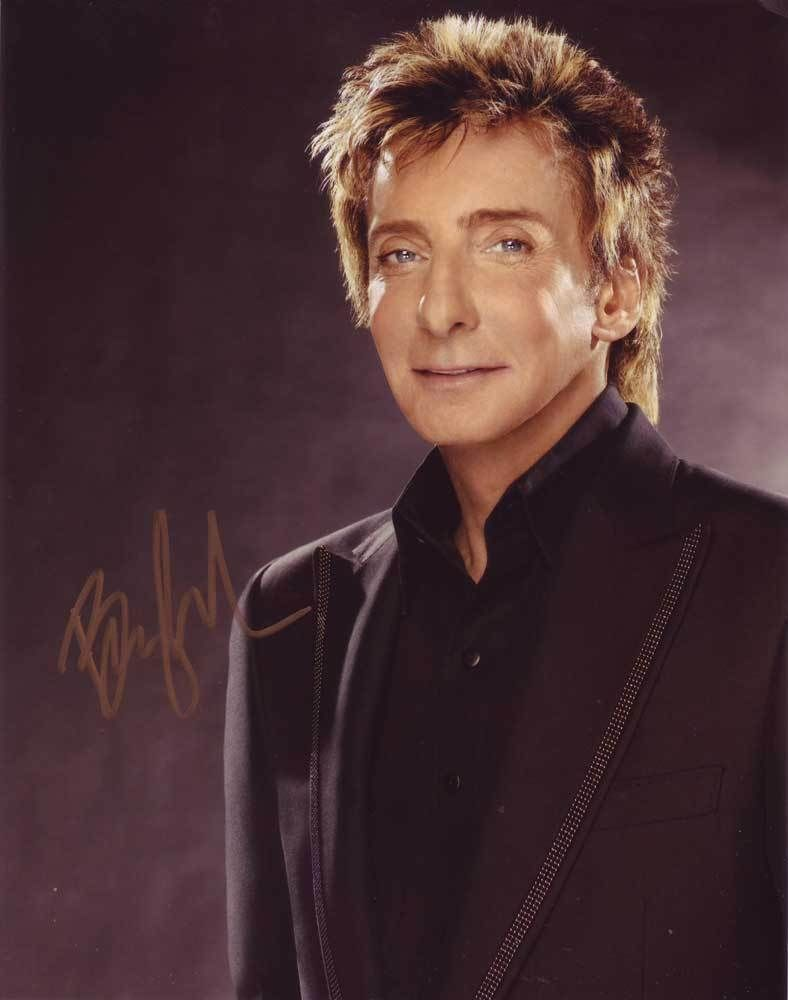 Barry Manilow In-person AUTHENTIC Autographed Photo COA SHA #10948